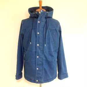 Stretch Denim Hooded Blouson Indigo