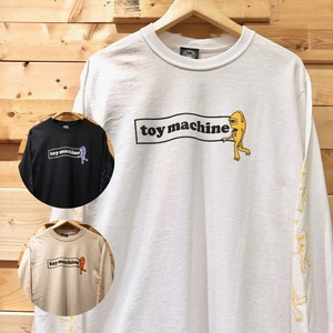 【再入荷】TOY MACHINE トイマシーン 長袖Tシャツ カットソー SECT BOX LOGO LONG TEE TMP20LT3 メンズ レディース ユニセックス