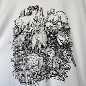アニマルプリントTシャツ size XL USA製 メンズ 古着