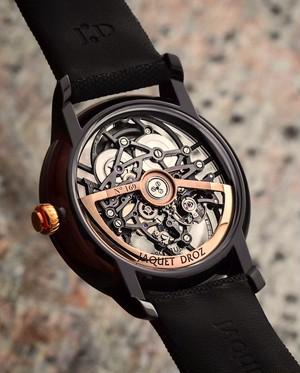 【JAQUET DROZ ジャケ・ドロー】GRANDE SECONDE SKELET-ONE CERAMIC グラン・セコンド スケルトン(ブラックセラミック)/国内正規品 腕時計