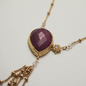 moonlight necklace gd ruby【FN221】