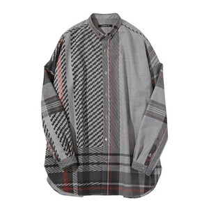 ALMOSTBLACK 18SS button down shirt (tartan)