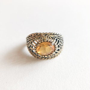 yellow & gold filigree ring #12 [r-120]
