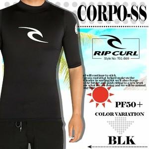 T01-869 リップカール 半袖 ラッシュガード 新作 メンズ オリジナル ブラック 黒 UPF50+ CORPO-SS RIP CURL