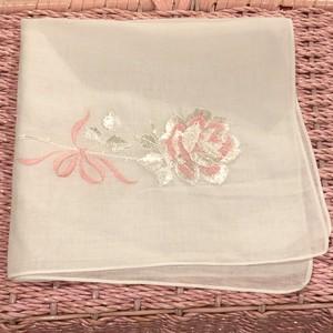 rose ribbon ハンカチーフ