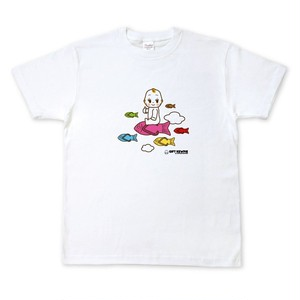 キューピーコラボ【限定Tシャツ】 【GIFT KEWPIE】飛ぶキユーピーとお魚サンダル