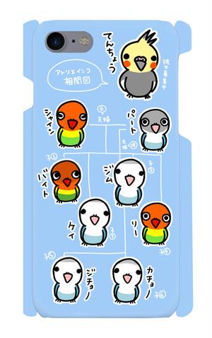 スマホケース「アトリエインコ相関図」Blue (for iPhone7/8)