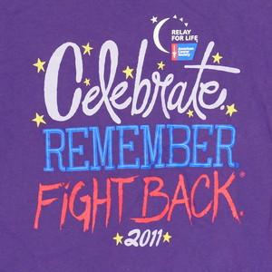 USA古着プリントTシャツM紫REMEMBER FIGHT BACK片面綿100極美48