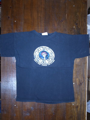 70's ARMY SURPLUS GREATFUL DEAD Skull & Rosesプリント T-Shirts(黒)