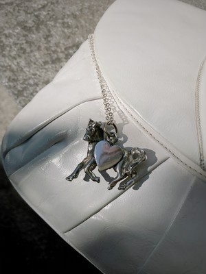 Vintage silver horse × heart necklace ( ヴィンテージ シルバー  馬 × ハート ネックレス )