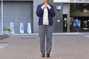 【maillot】mature washable serge easy trouser