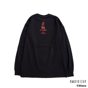 Ayanami (Why don't you just try smiling?) L/S Tee (BLACK)    /  RADIO EVA
