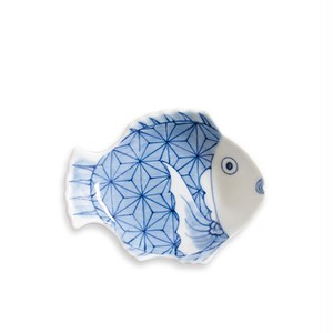 招福鯛クラシック 麻の葉文小皿