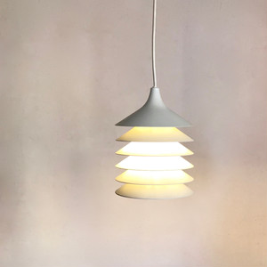 Vintage Metal Pendant Lamp 70's by Bent Boysen スウェーデン