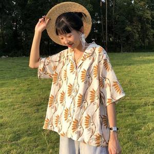 【トップス】カジュアルPOLOネックシングルブレストシャツ