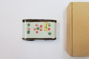 国産 陶器製 (梅・粉引花・南蛮) 墨 床