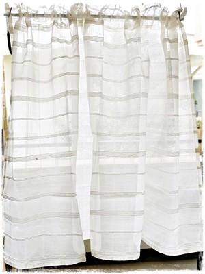 ♧コットンチェック*ロッドポケットカーテン【ショート】イージーオーダー♧W110×H50~80