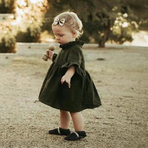 こっくり秋冬カラー!フリルワンピース #カーキ#ドレス