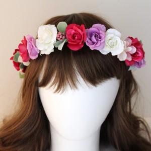 ミニバラの花かんむり