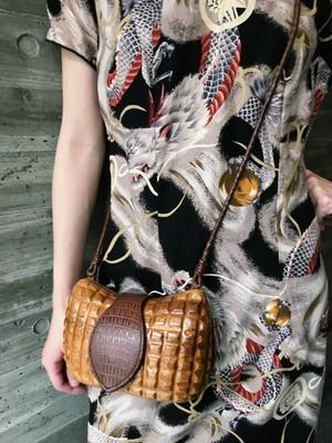 Vintage wood shoulder bag ( ヴィンテージ ウッド ショルダーバッグ )