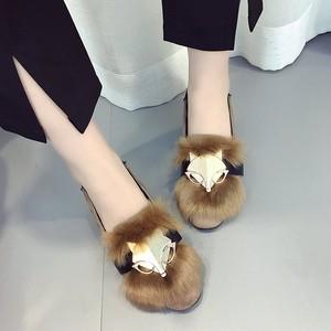 【シューズ】韓国風狐の頭ファッション可愛い快適なシューズ
