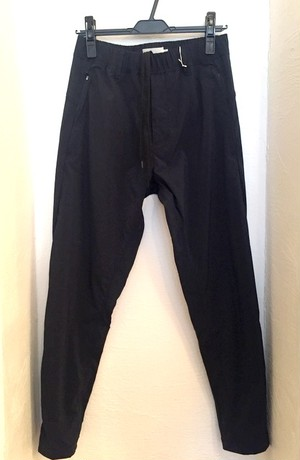 Stretch Tapered Zip Pants Navy