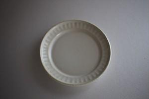 松岡賢司(平安楽堂)|鎬 豆皿 白マット