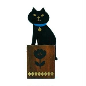 [miranda]  猫はんこ番 黒猫