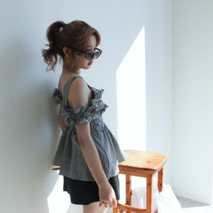 gingham check 2way tops (S19-01125K)