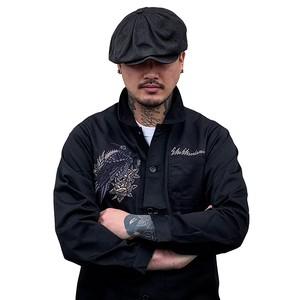 カラス刺繍ジャケット【横振り刺繍】