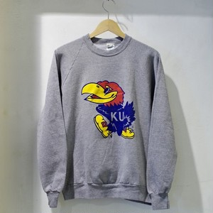 1980s Print Sweat Shirt / KU Jayhawks / カレッジ スウェット