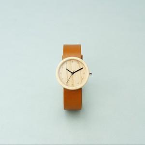 Maple wood - Organic leather Honey - M