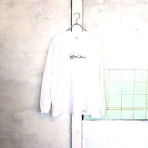 【OMIYAGE SHOP UNISEX】YOU TUBE KING LONGSLEEVE TEE