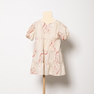 folk made  face print dress ( beige print) M・Lサイズ F21SS-012 ※メール便1点までOK
