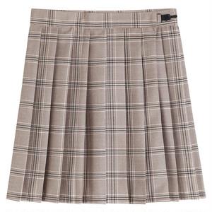 プリーツスカート 大きいサイズ 制服スカート 女子スクールスカート チェック柄 カーキ 女子高生 JKスカート ミニスカート 2969