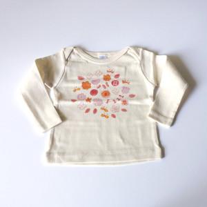 お花畑 ベビーTシャツ (ピンク) ● organic cotton 100%【受注生産】