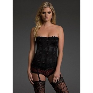 Lace-Up Corset with Thong(レースアップ コルセット Tバック セット)補正下着 バストアップ Blackheart
