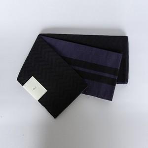 「コットンスラブ半巾帯:ブラック」 天然素材の優しい風合いがコーディネイトの幅を広げます。