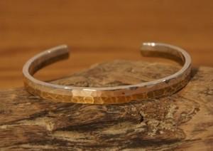 silver & brass bangle(hammer finish)