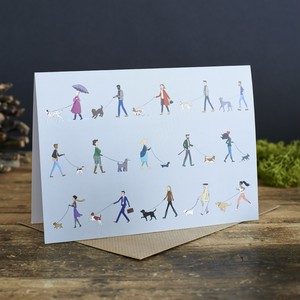 Sweet William【Dog Walker】Greeting Card