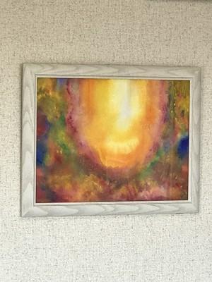 絵画  アクリル画    「菩薩」