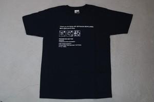 Tシャツ(紺)紙ナプキン柄 サイズS~XL / Woman M