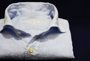 CADETTO ORIGINALS SHIRTS Herdmans Linen Saxe Blue