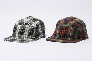 PLAID CHECK CAMP CAP