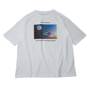 Space Shark T-SHIRT - WHITE