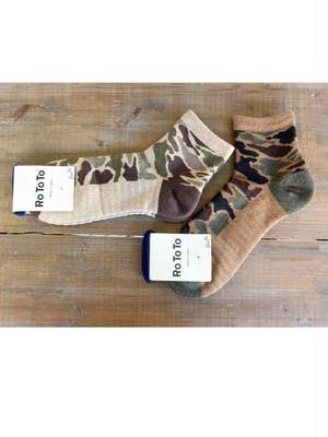 RoToTo(ロトト)CAMO SHORT SOCKS R1041 メンズ