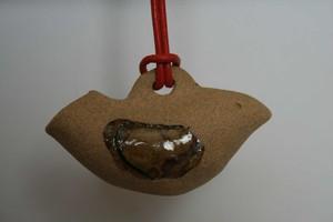 鳥の土笛ペンダント0012