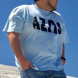AZAS ロゴTシャツ (ライトブルー×ブラック)