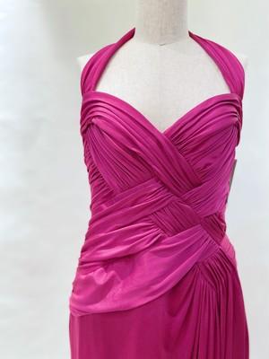 E-39 Tadashi /Drapped Jersey Dress
