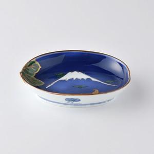 富士絵茄子型小鉢 【林九郎窯】009084650